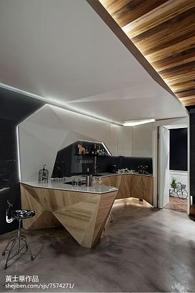 110平米现代别墅厨房欣赏图