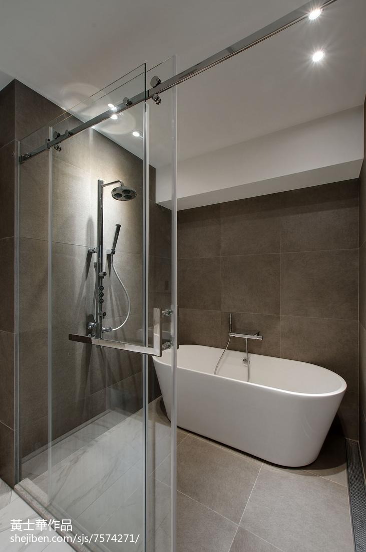 玻璃淋浴房设计卫生间现代简约卫生间设计图片赏析