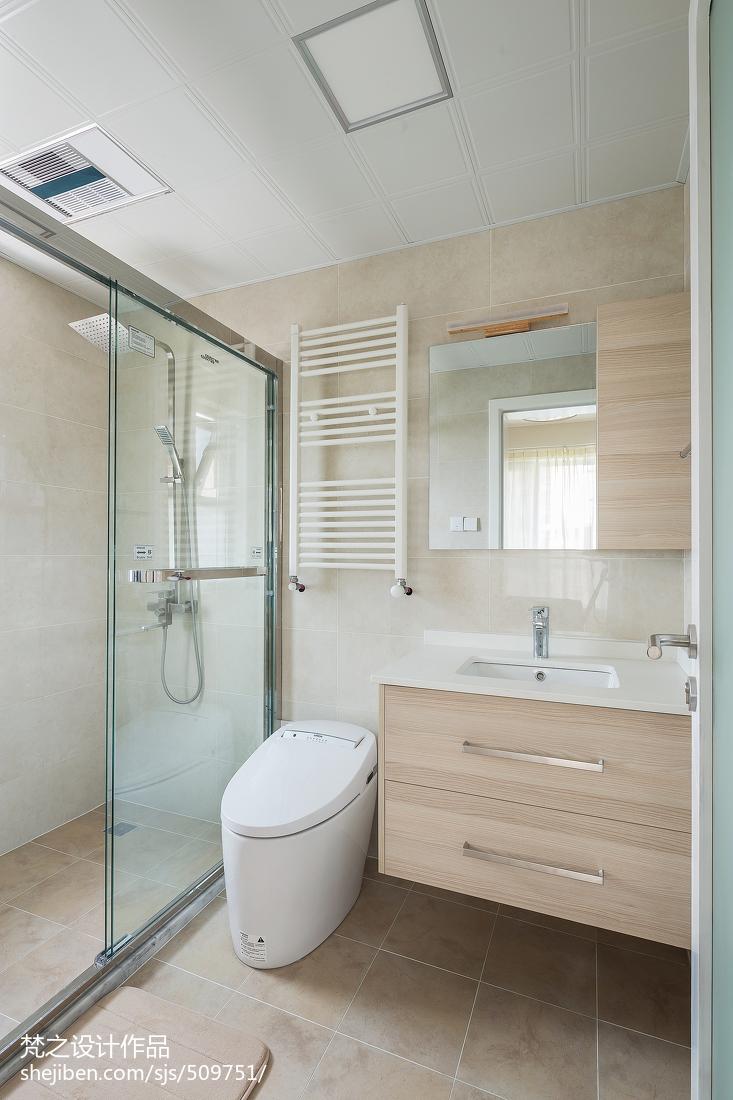 精美97平米三居卫生间日式欣赏图片卫生间日式卫生间设计图片赏析