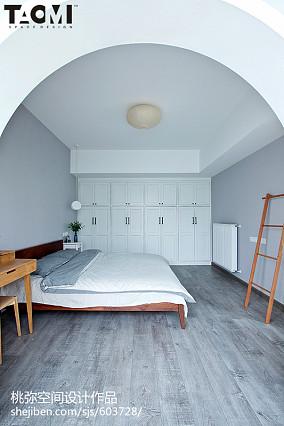 热门85平米二居卧室北欧装修实景图片81-100m²二居北欧极简家装装修案例效果图