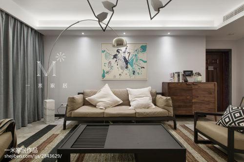 2018面积94平现代三居客厅装饰图片大全客厅沙发151-200m²三居家装装修案例效果图