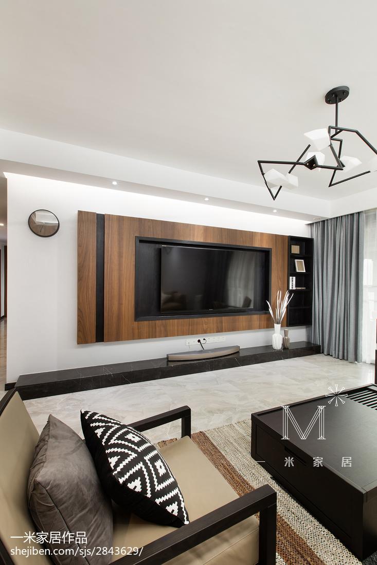 2018精选面积95平现代三居客厅效果图片大全客厅