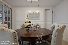 精选大小94平美式三居餐厅装修实景图三居美式经典家装装修案例效果图