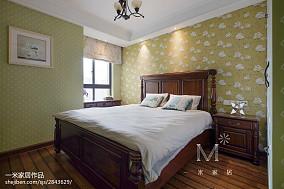 2018精选大小103平美式三居卧室实景图三居美式经典家装装修案例效果图