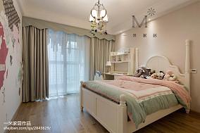 华丽100平美式三居装修效果图三居美式经典家装装修案例效果图