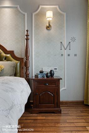 精美83平美式三居卧室装修装饰图家装装修案例效果图