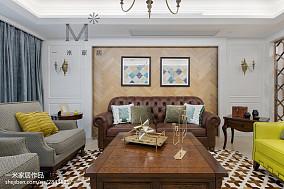 2018精选95平米三居客厅美式装修效果图三居美式经典家装装修案例效果图