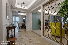 精选106平方三居过道美式装修设计效果图片三居美式经典家装装修案例效果图