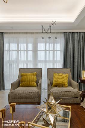 平美式三居客厅装潢图家装装修案例效果图