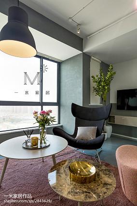 2018精选面积106平北欧三居客厅装修实景图片欣赏三居北欧极简家装装修案例效果图