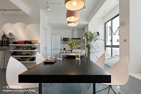 面积92平北欧三居餐厅装修设计效果图三居北欧极简家装装修案例效果图
