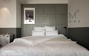 热门面积91平北欧三居卧室效果图三居北欧极简家装装修案例效果图