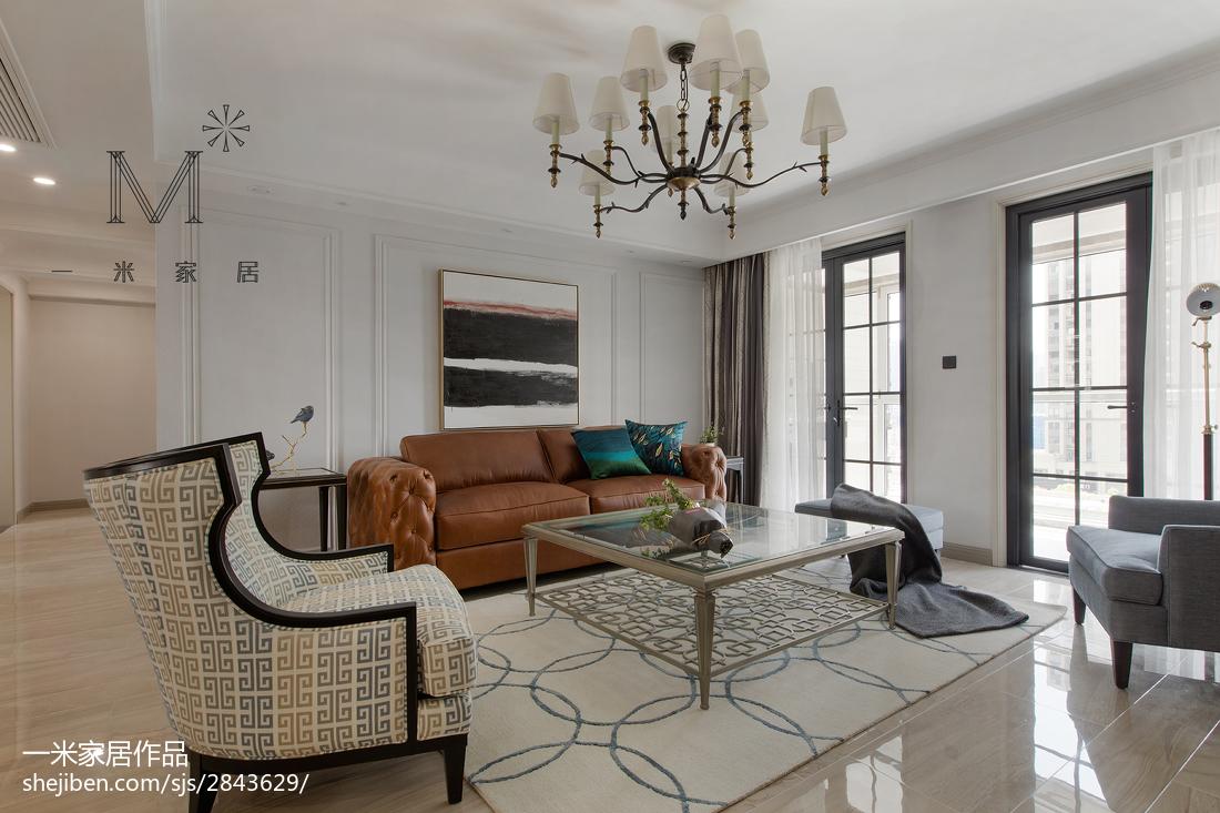 2018精选104平米三居客厅美式装修设计效果图片欣赏客厅