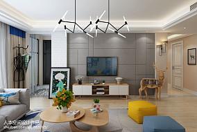 精选面积101平北欧三居客厅装修图