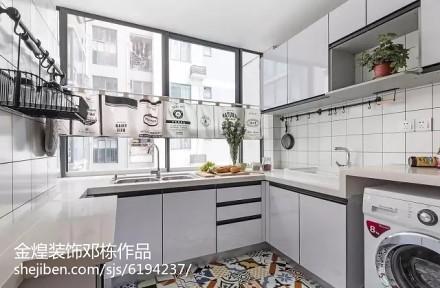 精选面积79平简约二居厨房装修实景图片