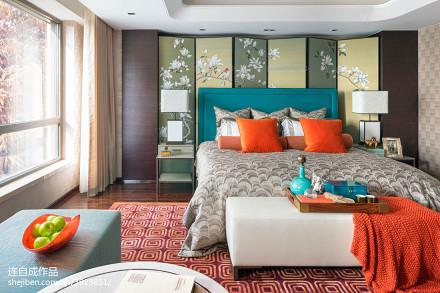 温馨253平混搭样板间卧室装修美图卧室