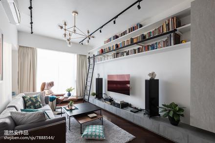 热门73平米二居客厅效果图片