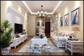 现代欧式风格两室两厅效果图