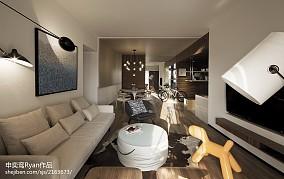 精美97平米三居客厅简约装饰图片欣赏