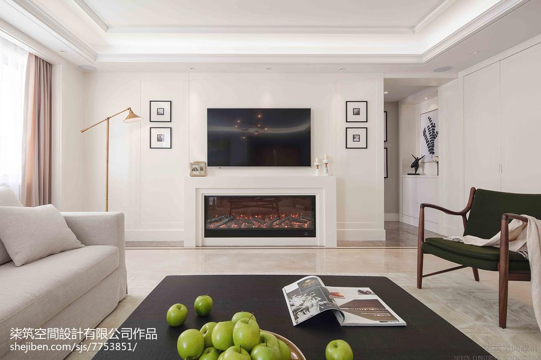 壁炉电视墙效果图客厅现代简约客厅设计图片赏析