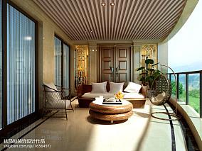 精美130平米新古典别墅阳台效果图片欣赏