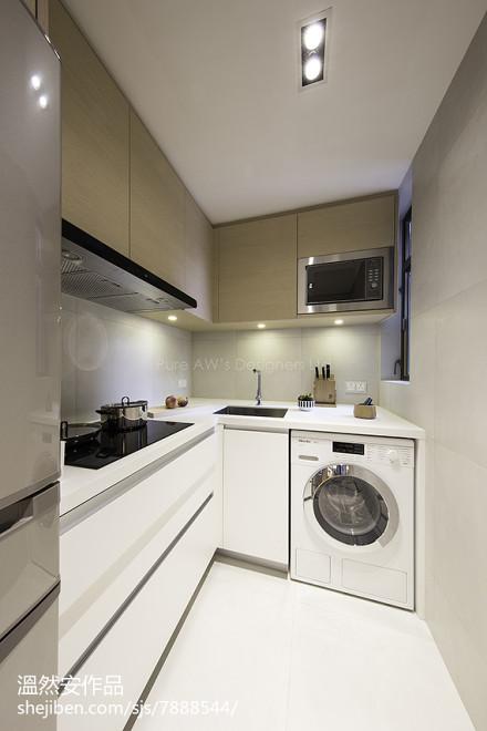 华丽80平日式二居厨房装潢图