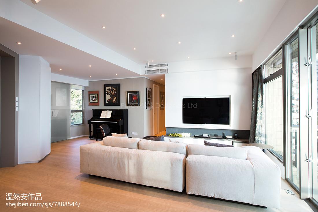 精美94平米三居客厅现代装修设计效果图客厅