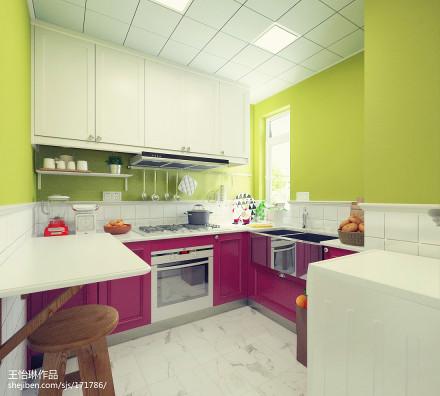 浪漫82平北欧三居厨房装修装饰图餐厅