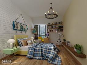 田园乡村风格三室两厅装修效果图大全欣赏