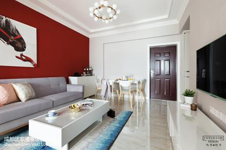 典雅34平现代小户型装饰美图一居现代简约家装装修案例效果图