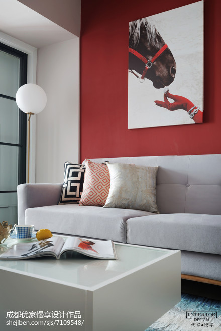 84平米现代小户型客厅装修设计效果图片欣赏