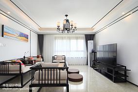 精美面积95平现代三居客厅装修实景图片大全