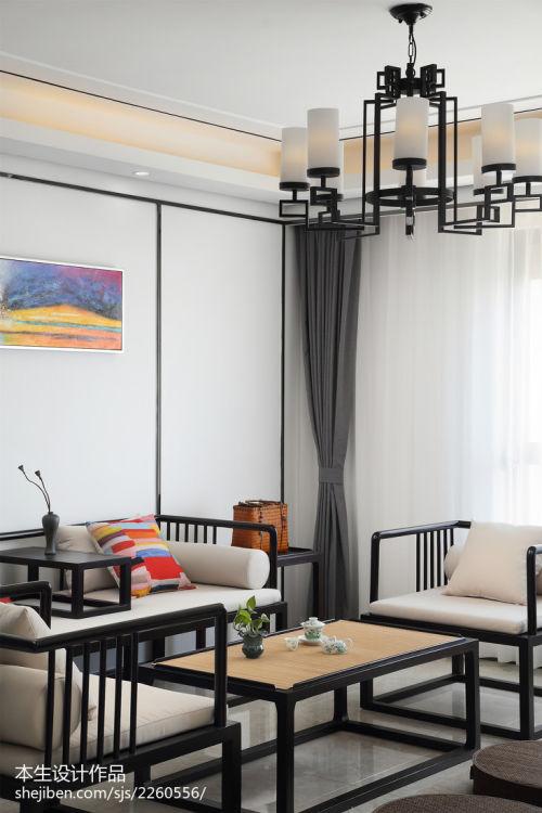 简洁140平现代三居客厅装修图121-150m²三居家装装修案例效果图