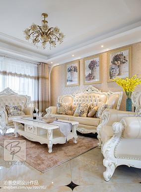 精美面积98平简欧三居客厅效果图片大全
