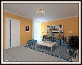 美式乡村田园风格三居室装修效果图
