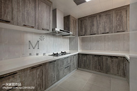 面积91平现代三居厨房实景图片欣赏