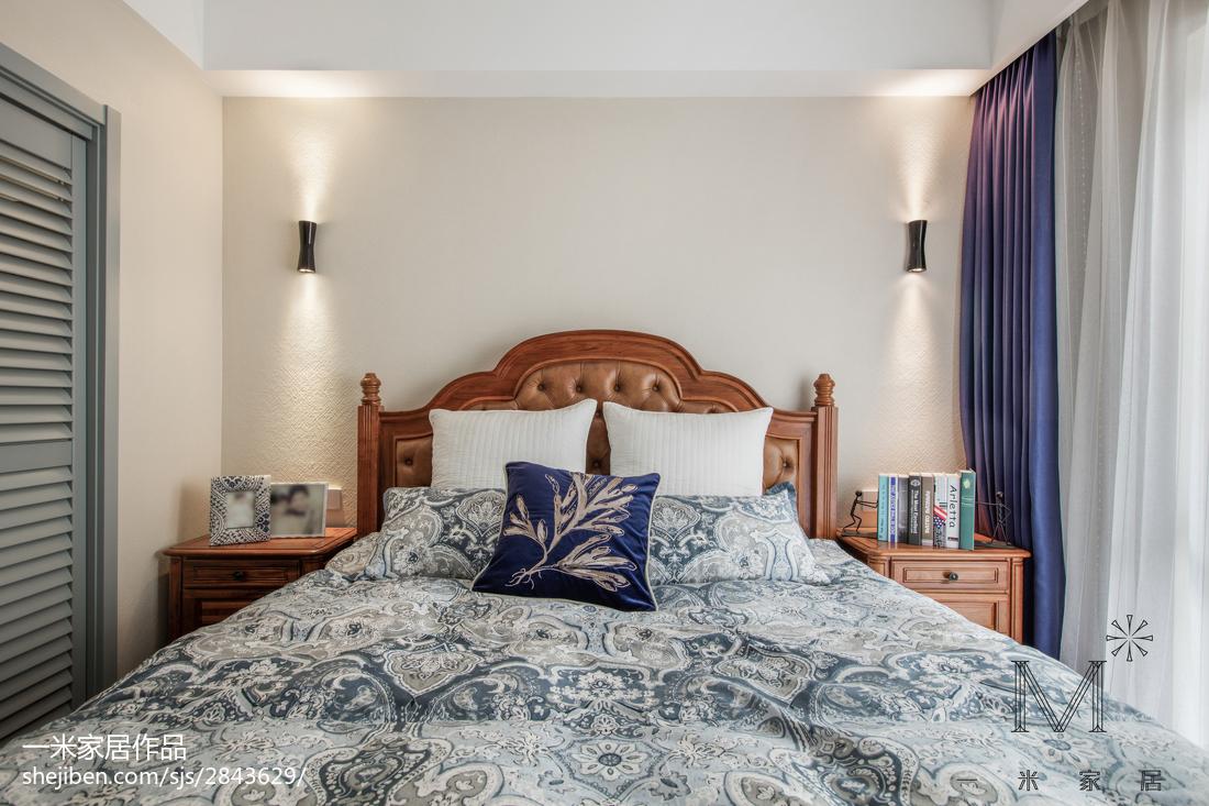 轻奢51平美式二居卧室装修设计图卧室窗帘美式经典卧室设计图片赏析