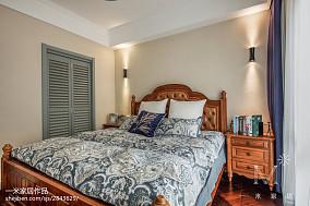 精美二居卧室美式装修图片81-100m²二居美式经典家装装修案例效果图