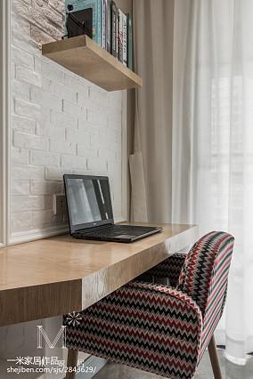 2018精选71平米二居书房美式实景图片大全81-100m²二居美式经典家装装修案例效果图