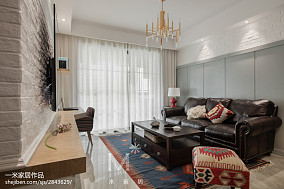 质朴80平美式二居客厅案例图