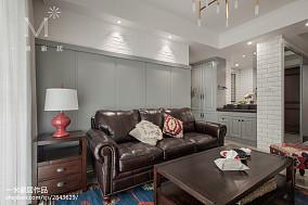 精美二居客厅美式效果图