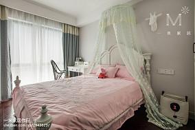 精美77平米二居儿童房美式装修实景图片