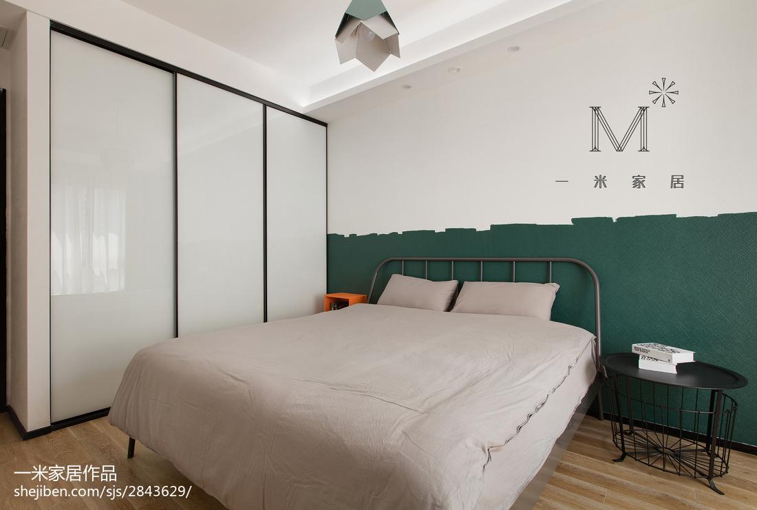 2018大小105平现代三居卧室装修效果图卧室现代简约卧室设计图片赏析