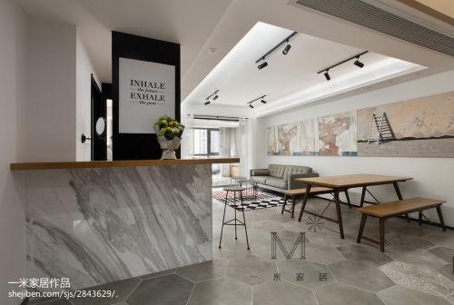 温馨170平现代三居餐厅装修设计图功能区沙发151-200m²三居家装装修案例效果图