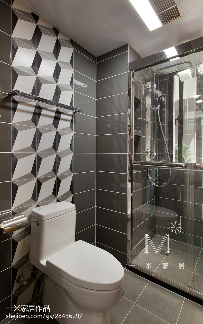 时尚家居卫生间装修效果图卫生间1图现代简约卫生间设计图片赏析