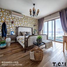 精选面积133平田园四居卧室装修欣赏图