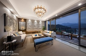 悠雅264平中式样板间效果图样板间中式现代家装装修案例效果图