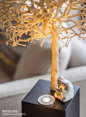 明亮267平中式样板间客厅装饰美图样板间中式现代家装装修案例效果图