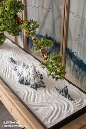 精美中式客厅装饰图样板间中式现代家装装修案例效果图