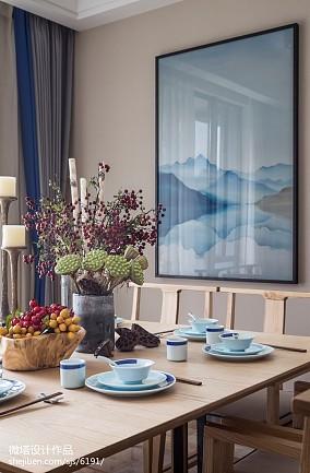 2018餐厅中式装修设计效果图样板间中式现代家装装修案例效果图